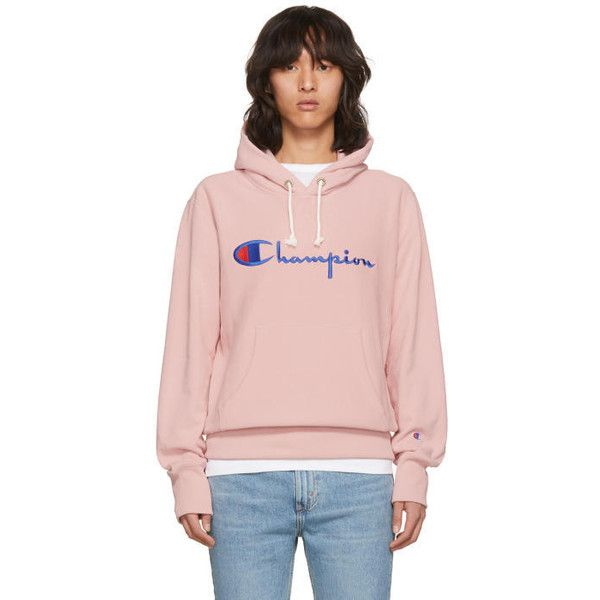 Champion Reverse Weave Pink Warm-Up Hoodie (417.315 COP) ❤ liked on Polyvore featuring men's fashion, men's clothing, men's hoodies, pink, champion mens hoodies, mens hoodies, mens short sleeve hoodies and mens sweatshirts and hoodies