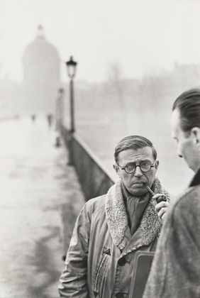 ean-Paul Sartre, Paris  Henri Cartier-Bresson (French, 1908–2004)    1946. Gelatin silver print, printed 1968,