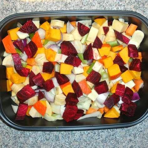 Rezept Gebackenes Herbstgemüse von sauerampferstängelchen - Rezept der Kategorie Hauptgerichte mit Gemüse
