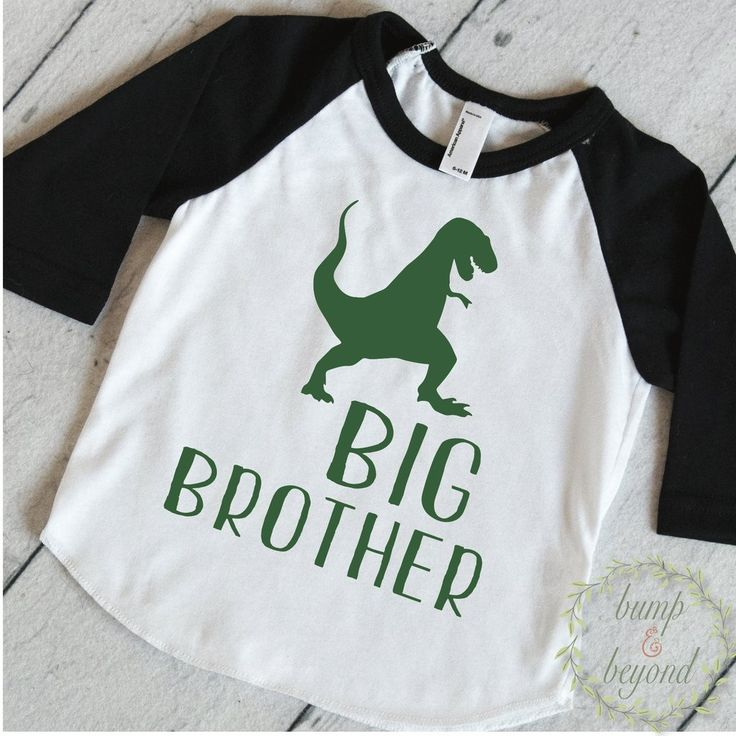 Big Brother Shirt, Dinosaur Big Brother Shirt, Sibling Shirts, Dino Big Brother Little Brother Outfits T-Rex Big Brother Gift 319 #announcement_shirt #big-brother-dino #big_bro_shirt