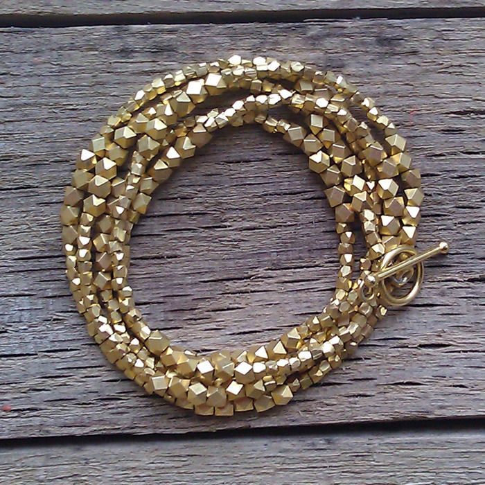 gold nuggets wrap braceletLong Gold, Wraps Bracelets, Beads Bracelets, Gold Nuggets, Beads Necklaces, Nuggets Necklaces, Beads Jewelry, Long Necklaces, Bling Bling