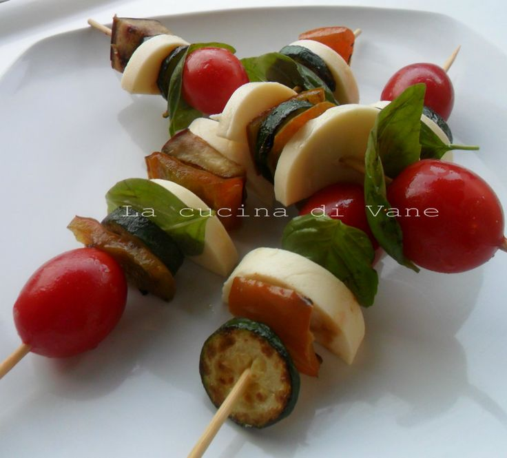 Spiedini di verdure e formaggio ricetta appetitosa