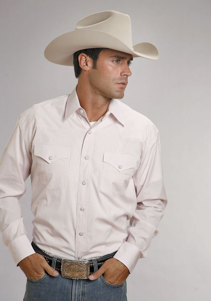 For high quality, traditional, western apparel with lasting style, look no  further than Stetson. Show off your western style in this cotton mens long  sleev