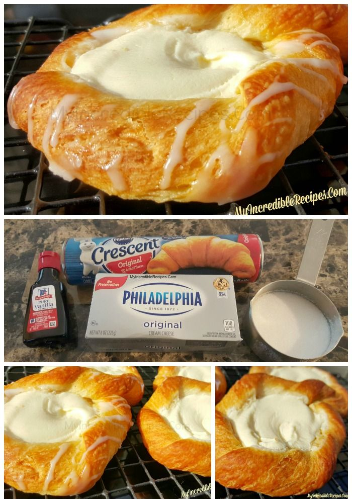 Crescent roll cheese danish