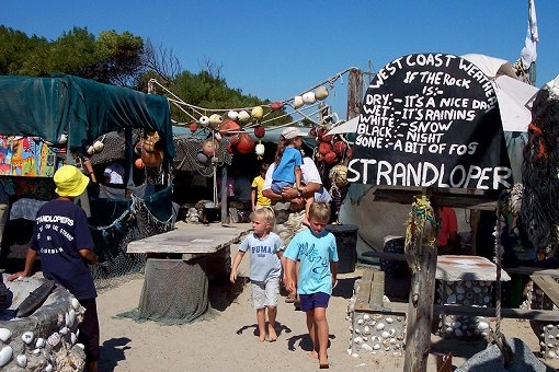 Die Strandloper Seafood Restaurant, on the beach, Langebaan, Cape West Coast - South Africa