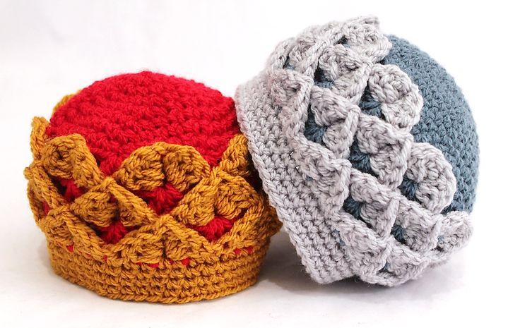 Ravelry: Royal Crocodile Crown Hat pattern by Thomasina Cummings Designs