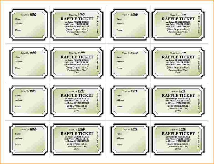 Best 25+ Free raffle ticket template ideas on Pinterest Raffle - make your own tickets template