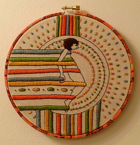 embroidery: Work, Amazing Embroidery, Artists, Embroidery, Melkadel, Embroidery Hoop, Erica Tattoos