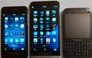 BlackBerry three latest mobile phone comparison chart
