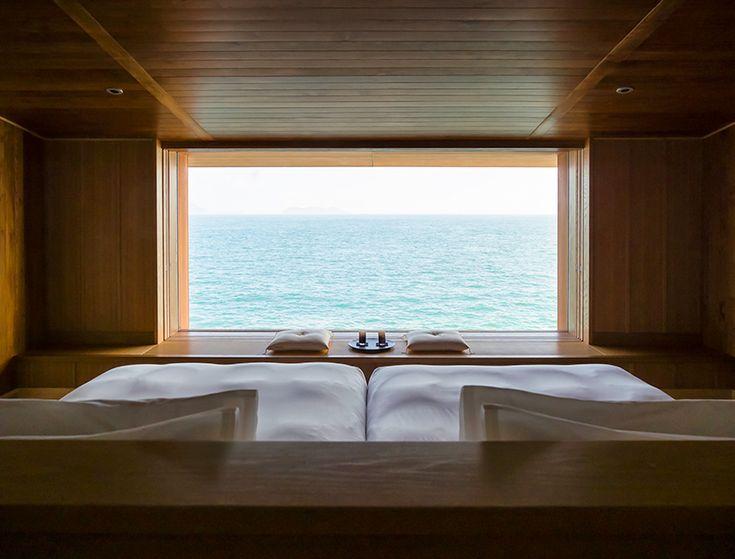 guntû is a luxury floating hotel that travels japan's inland sea