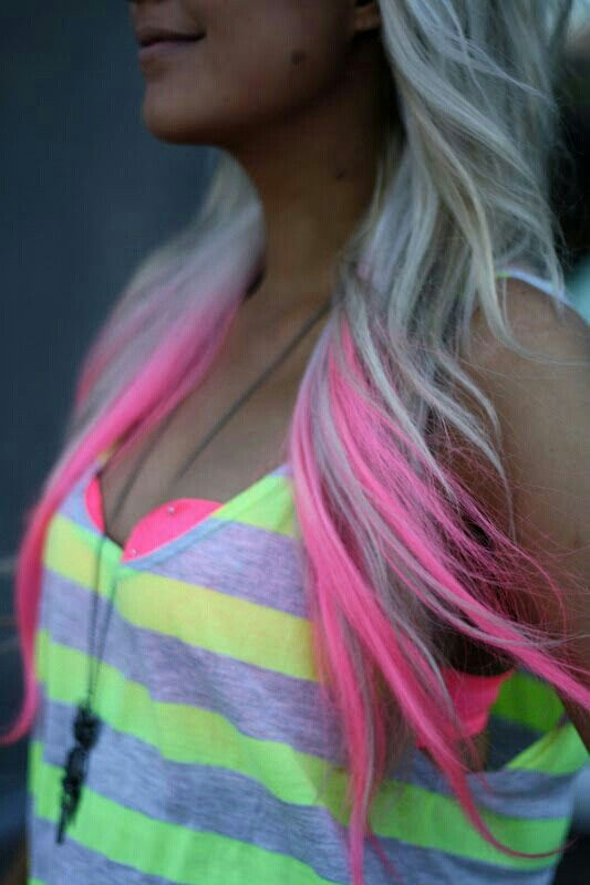 I love this shade of pink !!! My blonde hair is l a weird color so it will be a while before I do this !!!