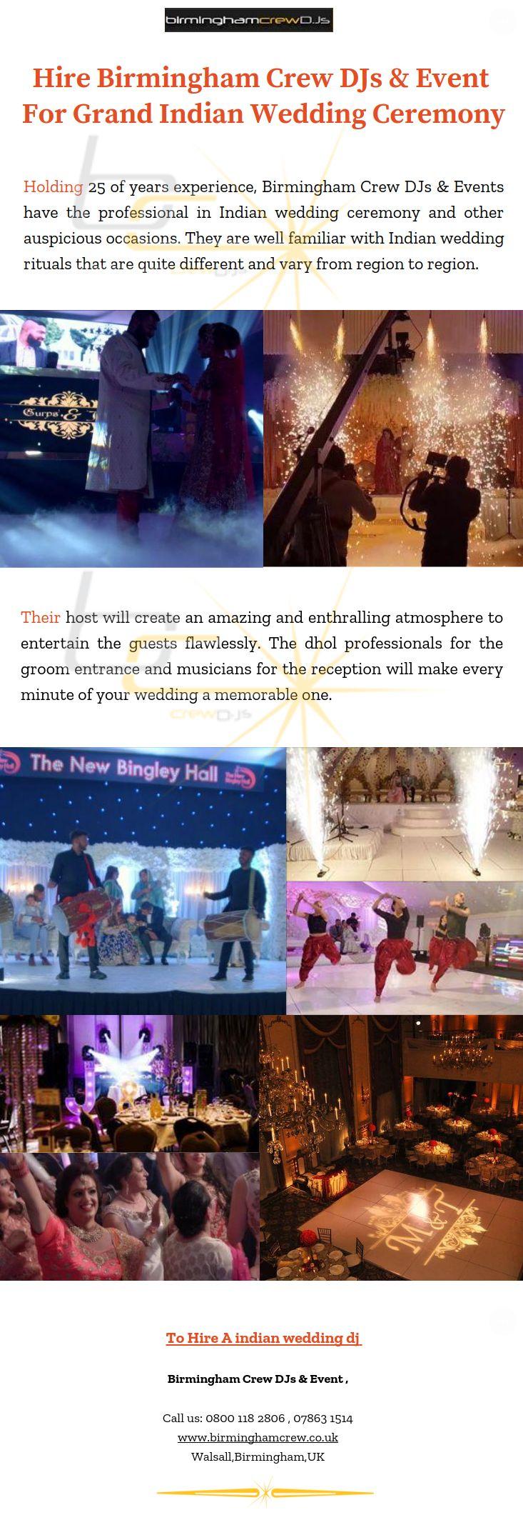 Hire Birmingham Crew Djs Event For Grand Indian Wedding Ceremony Indian Wedding Ceremony Wedding Ceremony Wedding Ceremony Programs