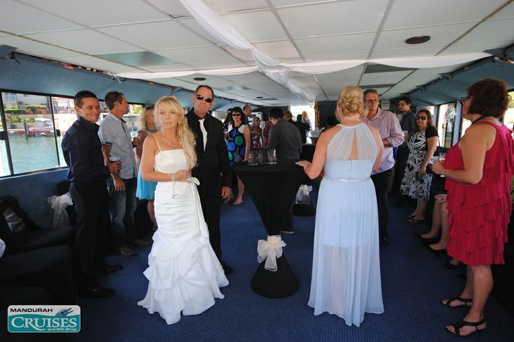 Mingle with your guests on our floating wedding reception venue. #wedding #reception #venue