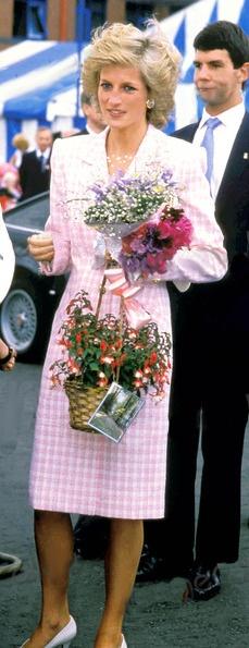 Diana, pretty in pink.
