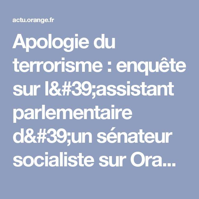 Apologie du terrorisme : enquête sur l'assistant parlementaire d'un sénateur socialiste sur Orange Actualités