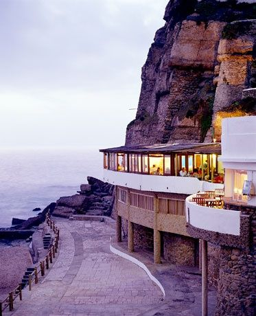 Restaurant Azenhas do Mar, Sintra, Portugal RePinned by : www.powercouplelife.com