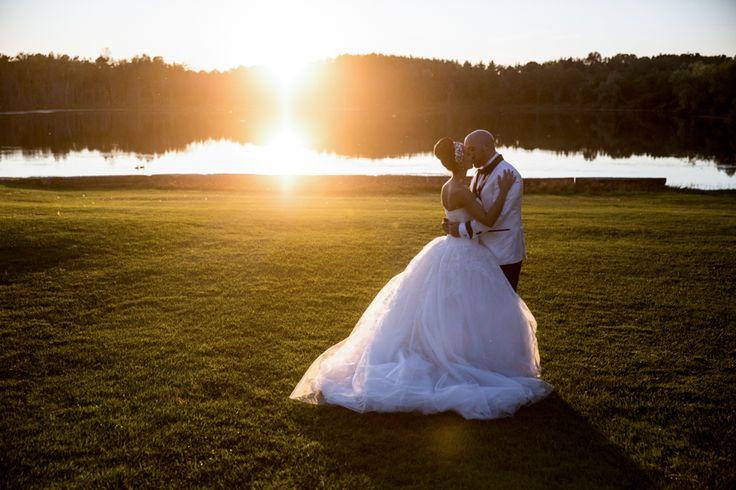Royal Ambassador bride and groom at sunset