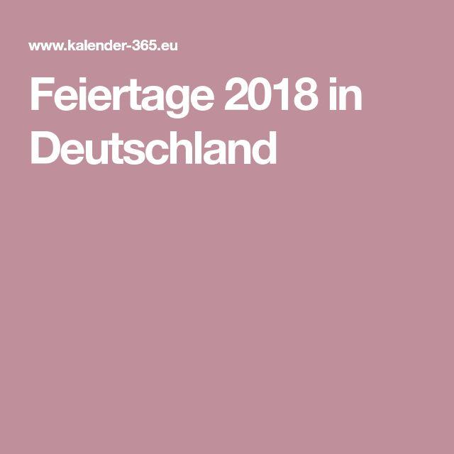Feiertage Deutschland 2018