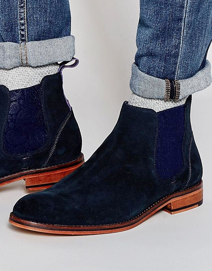 trendy Ted Baker  Camroon Suede Chelsea Boots (Blauw)