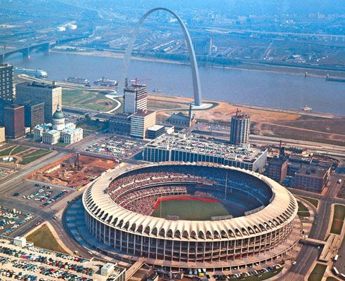 Old Busch Stadium: St. Louis, Missouri and home of the Cardinals....I watched the Cardinals play the Pittsburgh Pirates here in 1986.
