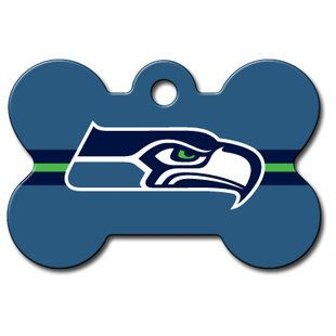 Cute! Seattle Seahawks Dog ID Tag