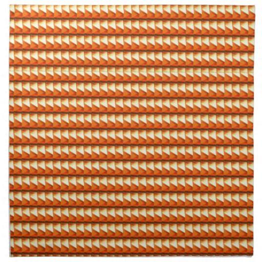 NVN3 Orange Golden Triangle Energy Art  NavinJOSHI Printed Napkin