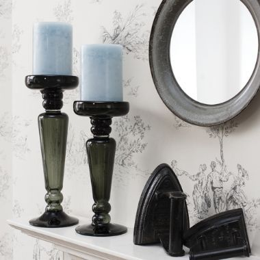 Melrose Grey Candle Stick - Starting from £29 | brandinteriors.co.uk