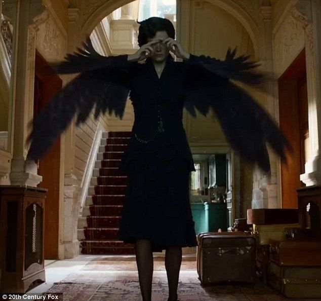Big bird: Eva Green transforms into bird in the debut trailer for Miss Peregrine's Home For Peculiar Children #FEATHERS #THEFEATHERPLACE