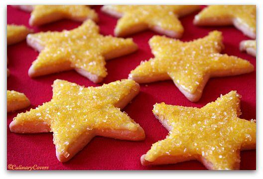 Lemon Stars - from Taste of Home HolidayCookies Ideas, Stars Cookies, Glittery Christmas, Christmas Cookies,  Sea Stars, Lemon Stars, Holiday Extravaganza, Christmas Thingy, Lemon Cookies