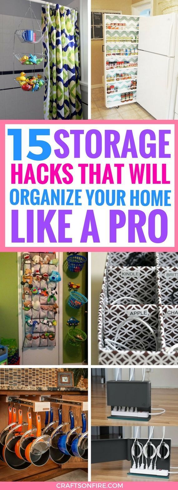 These Storage Organization Ideas are the BEST. Seriously incredible ways that will help you sort and arrange all the stuff in your home. I can't believe I didn't think of these before. Definitely saving for later. #organization #storage #storagesolutions