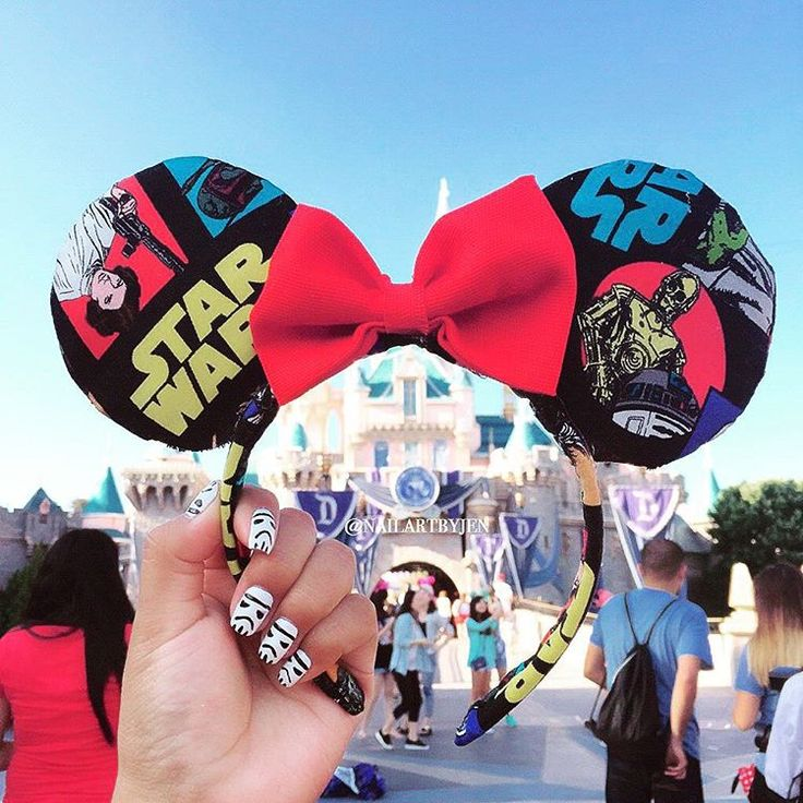 "621 Likes, 44 Comments - Jen (@nailartbyjen) on Instagram: ""#DisneylandNOTD Storm Troopers! With my DIY Star Wars Mickey ears! #disney #disneyland…"""