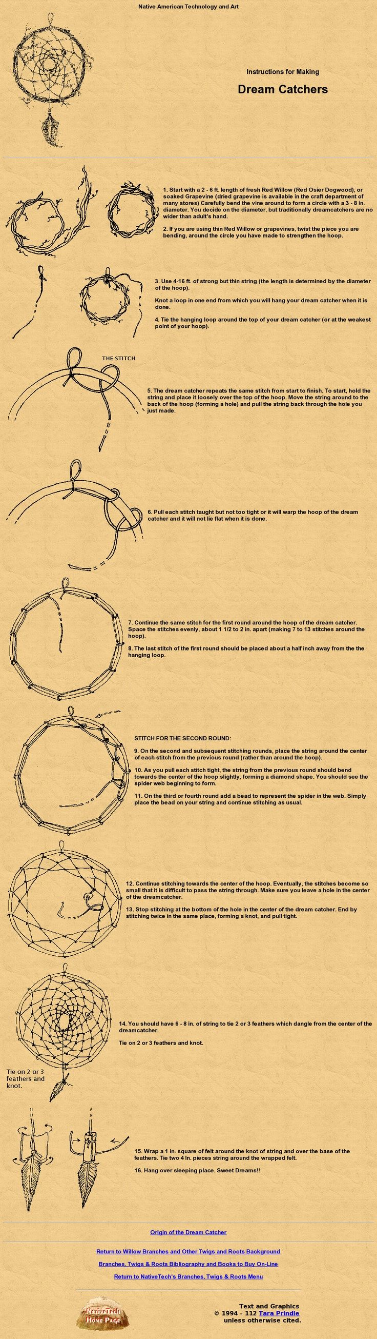 ☆ Instructions f0r Making a Dreamcatcher ☆