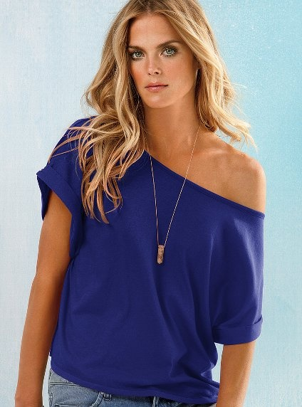 Pretty sure I just need an off-the-shoulder tee in every color for this summer.