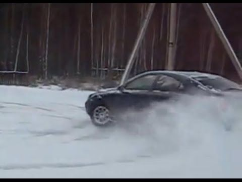 Volvo S60 AWD Snow Drifting on Russian off road