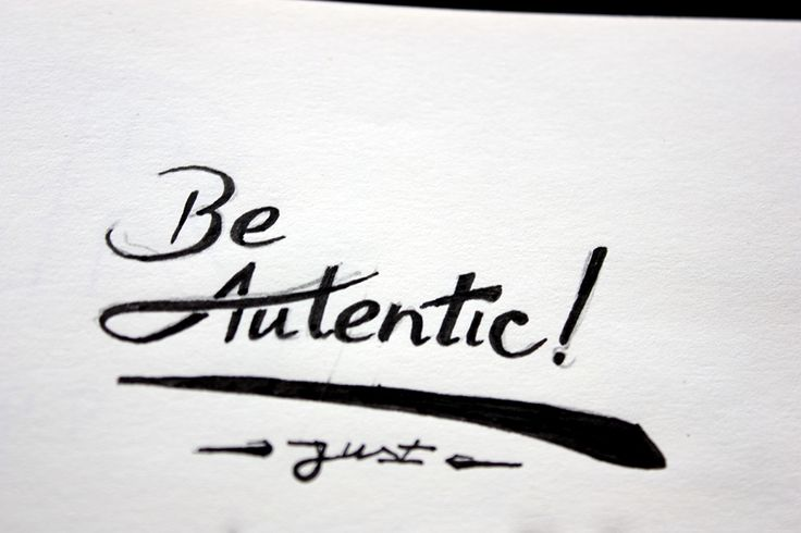 Be Autentic, just, Be ;) lettring by Dipe