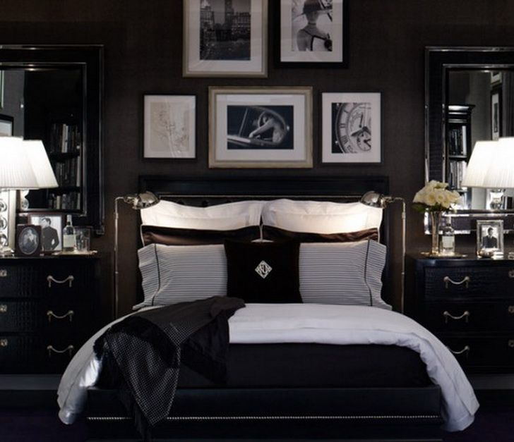color schemes for bedrooms with black furniture dark