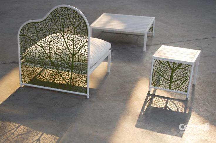 Linea Foglia Corradi - poltrona e tavolino #arredo #giardino