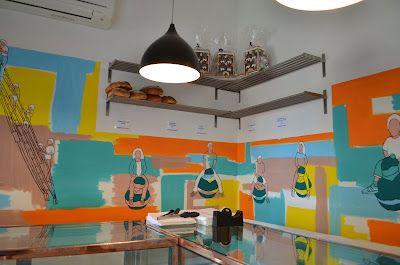 quirky cafe interiors, fabulous paint job