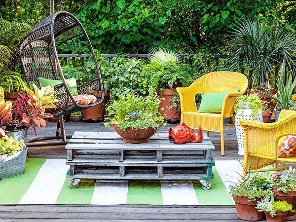 40 ideas para maximizar un peque o jard n lush ideas - Ideas para jardin pequeno ...
