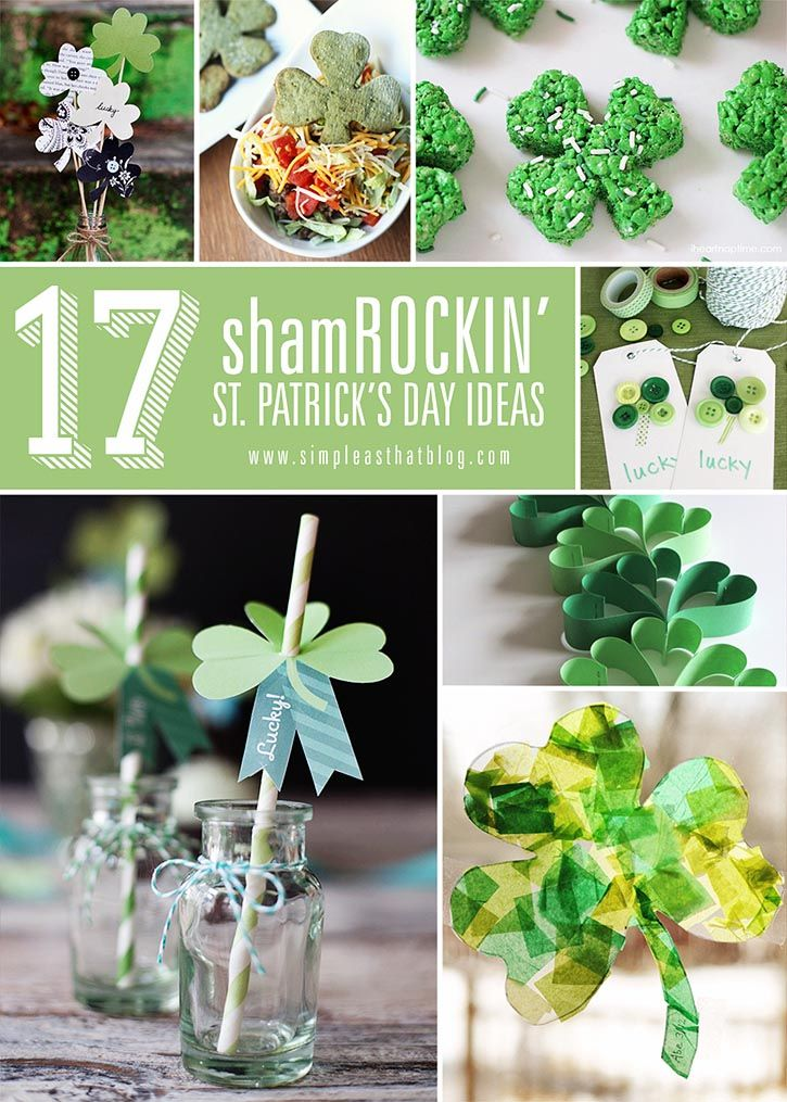 17 Shamrockin' St. Patrick's Day Ideas!: Idea, St. Patti, St. Patrick'S Day, St. Pattys, Simple St., Holidays St., St Patrick'S Day, Crafts, 17 Shamrockin