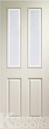 Internal 4 Panel Glazed Primed White Door