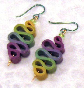 Mags Bonham FLICKR - simple. lovely colors.  so well done. #polymer #clay #jewelry