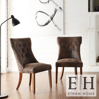 Atelier Traditional French Burnished Brown Oak Dining Chair (Set of 2)