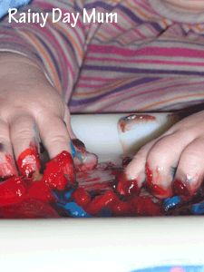 edible finger paints - would work for my kiddos that try to eat the shaving cream.