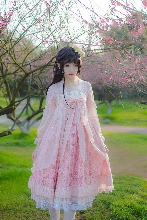 IchigoMikou ~Drizzle & Thin Clouds~ Hanfu Style Dress Qi Lolita Dress - My Lolita Dress