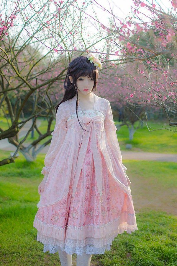 IchigoMikou ~Drizzle & Thin Clouds~ Hanfu Style Dress Qi Lolita Dress - My Lolita Dress