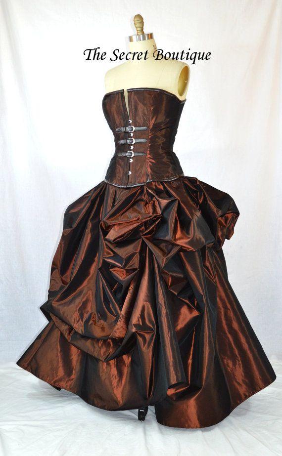 Steampunk wedding gown-steampunk dress-ball by thesecretboutique