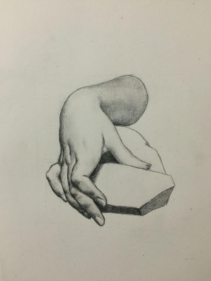 Hand, graphite - Andrea Meyerholz