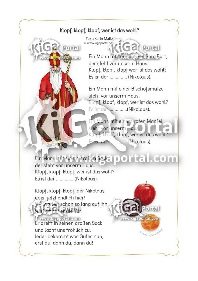 kigaportal kindergarten weihnachten advent nikolaus gedicht spruch reim nikolaussack basteln. Black Bedroom Furniture Sets. Home Design Ideas