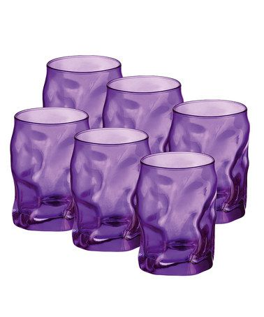 Take A Look At This Bormioli Rocco Purple Sorgente Water Glass   Set Of Six  By A Colorful Kitchen: Purple, Green U0026 Blue.